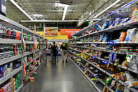 MIRAMAR, FL - OCTOBER 06: view of chip and soda shelve inside Walmart in Miramar, Florida in preparation for the landfall of Hurricane Matthew on October 6, 2016 in Miramar, Florida. The hurricane is expected to make landfall sometime this evening or early in the morning as a possible category 4 storm.Credit: MPI10 / MediaPunch