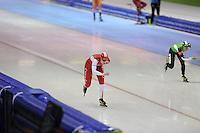 SCHAATSEN: HEERENVEEN: 25-10-2013, IJsstadion Thialf, NK afstanden, 1500m, Lotte van Beek, ©foto Martin de Jong