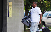 PITTSBURGH - JULY 26:  A day after the NFL lockout ended, rookie Marcus Gilbert #65 of the Pittsburgh Steelers reports to the South Side training facility on July 26, 2011 in Pittsburgh, Pennsylvania.  (Photo by Jared Wickerham/Getty Images)