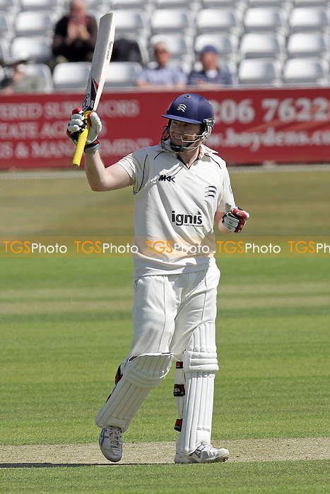 Jamie Dalrymple of Middlesex celebrates 50 runs, a half century - Essex CCC vs Middlesex CCC - LV County Championship Division Two cricket at the Ford County Ground, Chelmsford - 24/05/11 - MANDATORY CREDIT: Gavin Ellis/TGSPHOTO - Self billing applies where appropriate - Tel: 0845 094 6026