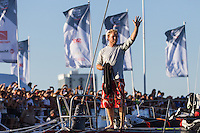 BRAZIL, Itajai. 6th April 2012. Volvo Ocean Race. Casey Smith, bowman, Puma Ocean Racing Powered by BERG.