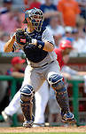 17 June 2006: Jorge Posada, catcher for the New York Yankees, in action against the Washington Nationals at RFK Stadium, in Washington, DC. The Nationals overcame a seven run deficit to win 11-9 in the second game of the interleague series...Mandatory Photo Credit: Ed Wolfstein Photo...
