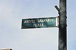 Andrei Sakharov Plaza Street Sign