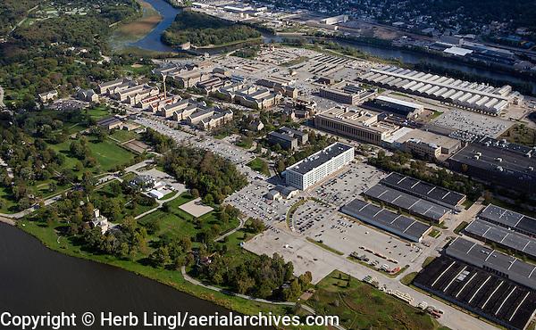 aerial photograph Rock Island Arsenal, Mississippi River, Illinois