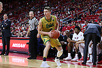 18 February 2017: Notre Dame's Rex Pflueger. The North Carolina State University Wolfpack hosted the University of Notre Dame Fighting Irish at the PNC Arena in Raleigh, North Carolina in a 2016-17 Division I Men's Basketball game. Notre Dame won the game 81-72.