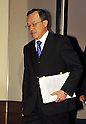 December 7, 2011, Tokyo, Japan - President Shuichi Takayama of the scandal-hit Olympus Corp. arrives for a news conference at a Tokyo hotel on Wednesday, December 07, 2011, a day after an independent panel set up by the Japanese optical equipment company released the results of its investigation into the companys cover-up of investment losses. Takayama hinted at the news conference that the companys top brass may step down at the next shareholders meeting, most likely in February 2012 at the earliest. Former President Michael Woodford is calling for an extraordinary shareholders meeting to discuss the accounting scandal. (Photo by Natsuki Sakai/AFLO) [3615] -mis-