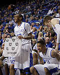 UK guard Ryan Harrow cheers for his team during the second half of the men's basketball game against Mississippi State at Rupp Arena in Lexington, Ky. on Saturday, February 27, 2013. Photo by Genevieve Adams