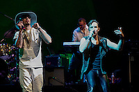 The Argentiniean Band  Illya Kuryaki & The Valderramas performs at Prospect Park in Brooklyn New York on July 10, 2014 in New York City. Kena BetancurVIEWpress