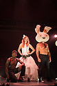 London, UK. 15.05.2015. LIMBO, a mix of cabaret, circus and acrobatics, opens at the London Wonderground at Southbank Centre. Picture shows: Hilton Denis, Evelyne Allard and Mikael Bres. Photograph © Jane Hobson.