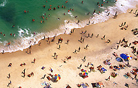 View looking down to Vidigal Beach in Rio de Janeiro, Brazil