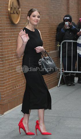 NEW YORK, NY - JANUARY 12: Ashley Benson spotted leaving 'The View' in New York, New York on January 12, 2016. Photo Credit: Rainmaker Photo/MediaPunch