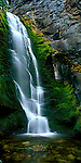 Waterfall, Tulip Creek, Kootenay Mountains, British Columbia, Canada