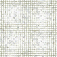Gridded 2 cm, a hand-cut stone mosaic, shown in polished Calacatta.