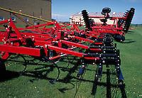 farm equipment on display outdoors. Iowa.