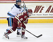 Ashley Norum (Maine - 4), Emily Field (BC - 15) - The visiting University of Maine Black Bears defeated the Boston College Eagles 5-2 on Sunday, October 30, 2011, at Kelley Rink in Conte Forum in Chestnut Hill, Massachusetts.