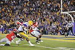 LSU running back Jeremy Hill (33) runs to the 1 yard line at Tiger Stadium in Baton Rouge, La. on Saturday, November 17, 2012. LSU won 41-35.....