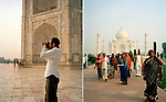 Man photographing at the Taj Mahal