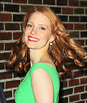 """Celebrities visit """"Late Show with David Letterman"""" New York, Ny January 17, 2012"""