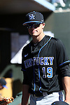 19 February 2017: Kentucky's Evan White. The University of North Carolina Tar Heels hosted the University of Kentucky Wildcats in a College baseball game at Boshamer Stadium in Chapel Hill, North Carolina. UNC won the game 5-4.