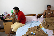 The members of the Indian Kabbadi team are seen relaxing in their hostel room at a month long camp in Sport Authority of India Sports Complex in Bisankhedi, outskirts of Bhopal, Madhya Pradesh, India.