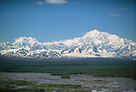 View of Mt. McKinley (Denali) and Mt. Foraker, Denali National Park, Alaska, USA