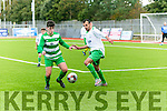In Action Celtic's Conal Murphy and Mitchel,s Zidane Algers in the  FAI Cup,  Mitchels Avenue   v  Killarney Celtic  at Mounthawk park on Sunday