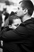 Warsaw 10 April 2010 Poland.<br /> Mourning after the crash of the plane TU - 154, in which killed President Lech Kaczynski and his wife Maria Kaczynska and the most important person in the state<br /> <br /> (Photo by Filip Cwik / Newsweek Poland / Napo Images)<br /> <br /> Warszawa 10 kwiecien  2010 Polska<br /> Zaloba po katastrofie samolotu TU - 154, w ktorej zginal Prezydent RP Lech Kaczynski wraz z zona Maria Kaczynska oraz najwazniejsze osoby w panstwie.<br /> (fot. Filip Cwik / Newsweek Polska / Napo Images)