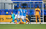 St Johnstone U20 v Motherwell U20&hellip;03.10.16.. McDiarmid Park   SPFL Development League<br />Ben McKenzie can&rsquo;t keep Jacob Blyth&rsquo;s effort from crossing the line to make it 1-0 to Motherwell<br />Picture by Graeme Hart.<br />Copyright Perthshire Picture Agency<br />Tel: 01738 623350  Mobile: 07990 594431