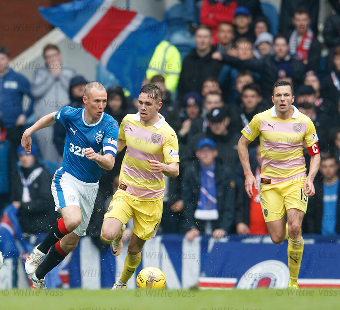 Kenny Miller walks the ball away from the danger area