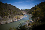 James Butler's mining claim sits on the Yuba River, with Engelbright Dam in the background, in the Sierra foothills near Smartsville, California, April 19, 2012..CREDIT: Max Whittaker/Prime for The Wall Street Journal.MINER