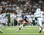 Ole Miss quarterback Barry Brunetti (11) vs. Tulane in the first half at the Mercedes-Benz Superdone in New Orleans, La. on Saturday, September 22, 2012. Ole Miss won 39-0...