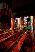 Inside old and ancient Monasteries Tibet