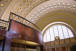Washington DC; USA: Union Station, the rail terminal for Washington DC. Elegant vaulted ceiling of Grand Concourse..Photo copyright Lee Foster Photo # 25-washdc75371