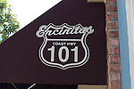 101 sign on awning downtown Encinitas
