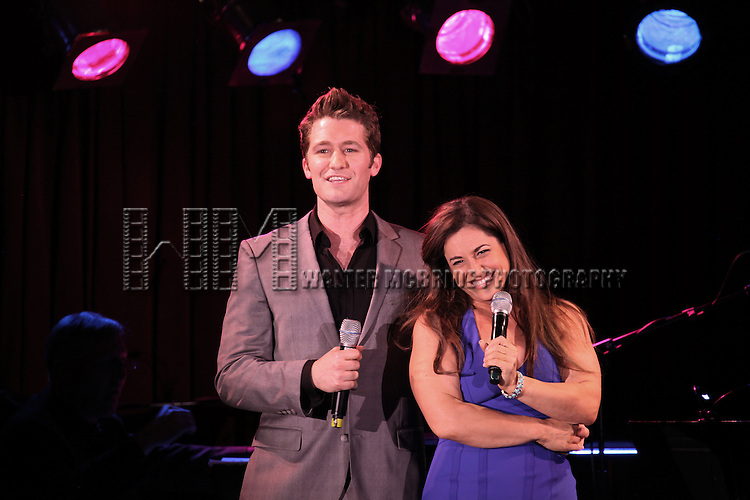 Matthew Morrison, Marissa Jaret Winokur during the Presentation for the SDC Foundation's Mr. Abbott Award honoring Jerry Mitchell for Lifetime Achievement in the American Theatre at B.B. King in New York City on 5/13/2013..