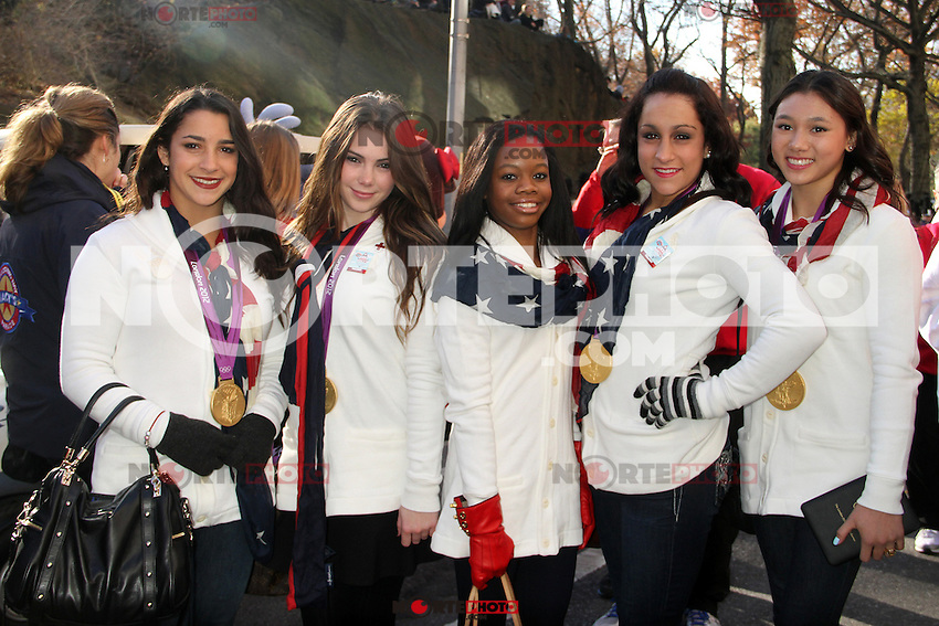 NEW YORK, NY - NOVEMBER 22: U.S. Olympic Gymnastics Team at the 86th Annual Macy's Thanksgiving Day Parade on November 22, 2012 in New York City. Credit: RW/MediaPunch Inc. /NortePhoto