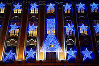 Christmas light on shops - Lille France