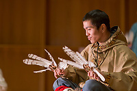 Festival of Native Arts, Imarpigmiut Dancer, Native dance and art celebration in Fairbanks, Alaska