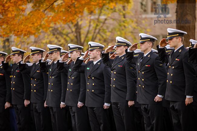 November 9, 2016; Veterans Day 2016. (Photo by Peter Ringenberg/University of Notre Dame)