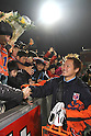 Taishi Tsukamoto (Ardija), DECEMBER 3, 2011 - Football / Soccer : Taishi Tsukamoto of Omiya Ardija shakes hands with fans after the 2011 J.League Division 1 match between Omiya Ardija 3-1 Ventforet Kofu at NACK5 Stadium Omiya in Saitama, Japan. (Photo by Hiroyuki Sato/AFLO)