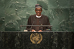 Nigeria<br /> H.E. Mr. Muhammadu Buhari<br /> President<br /> <br /> General Assembly Seventy-first session: Opening of the General Debate 71 United Nations, New York