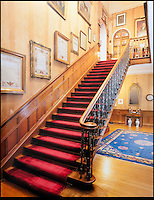 BNPS.co.uk (01202) 558833<br /> Picture: Bonhams<br /> <br /> one of the main staircase<br /> <br /> It is the ultimate garden sale -- The aristocrat Cunliffe-Copeland family are auctioning off millions of pounds of antiques in a unique sale of the entire contents of their stately home Trelissick House near Truro in Cornwall. For generations the family have filled the magnificent The 18th century manor with treasures acquired from travels around the globe.<br /> <br /> 58 years ago the house was left to the National Trust on the condition members of the family could carry on living in the property. But the current incumbent, William Copeland and wife Jennifer, have decided to buy a normal-sized family home and are unable to take the hundreds of heirlooms with them. So they are holding a two-day sale of ancient ornaments, paintings, furniture, jewellery, silverware, books, rugs and wine in the grounds of Trelissick House, near Truro, later this month, and hope to raise &pound;3million