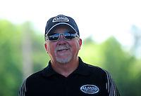 May 6, 2012; Commerce, GA, USA: NHRA top fuel dragster team owner Alan Johnson during the Southern Nationals at Atlanta Dragway. Mandatory Credit: Mark J. Rebilas-