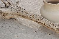 Bloom in 1.5cm polished Driftwood, Socorro Grey, and Bianco Antico