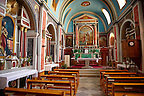 Interior of the Neo Classic Catholic Parish church of Ano Syros, Syros Island [ ????? ] , Greek Cyclades Islands