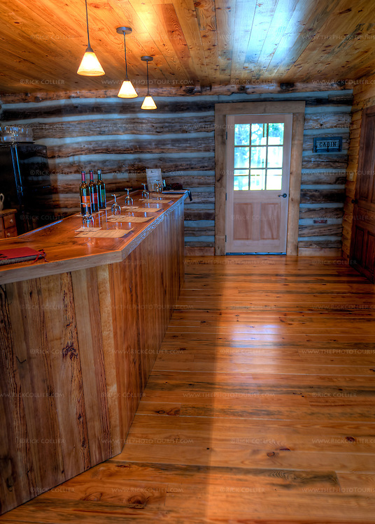 The bar is set for tastings at The Homeplace Vineyard (HDR image).
