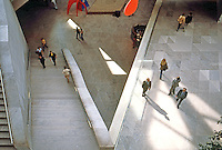I.M. Pei: Washington, D.C. National Gallery, East. Interior.