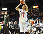 "Ole Miss' Anthony Perez (13) vs. Coastal Carolina at the C.M. ""Tad"" Smith Coliseum in Oxford, Miss. on Tuesday, November 13, 2012."
