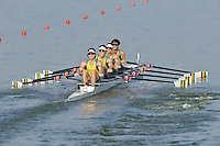 Brest, Belarus.  AUS M4X, at the start, 2010. FISA U23 Championships. Friday,  23/07/2010.  [Mandatory Credit Peter Spurrier/ Intersport Images]