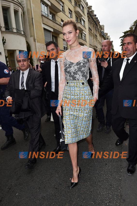 Karlie Kloss <br /> Dior fashion show arrivals - Paris - 30/09/2016